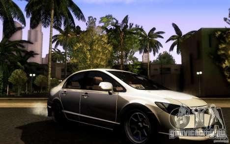 Honda Civic FD BlueKun для GTA San Andreas вид справа