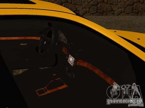 BMW 540i для GTA San Andreas вид изнутри
