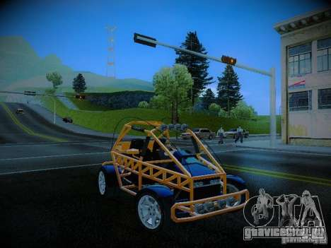 Buggy From Crash Rime 2 для GTA San Andreas вид изнутри