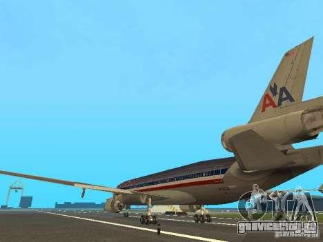 McDonell Douglas MD11 American Airlines для GTA San Andreas вид сзади слева