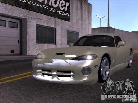 Dodge Viper для GTA San Andreas вид изнутри