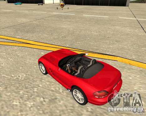 Dodge Viper SRT-10 Roadster для GTA San Andreas вид сбоку