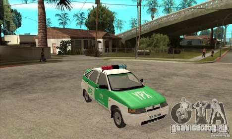 ВАЗ 2112 YPX Police для GTA San Andreas вид сзади