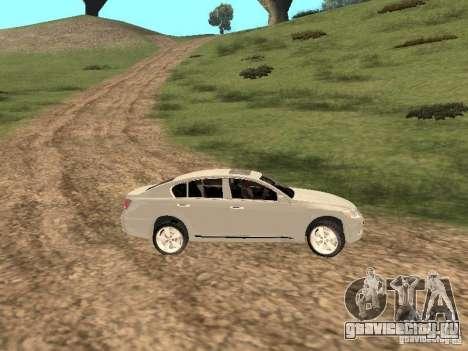 Lexus GS-350 для GTA San Andreas вид изнутри