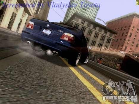 BMW E39 M5 2004 для GTA San Andreas вид изнутри