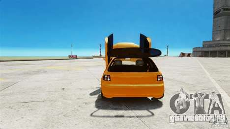 Honda Civic Tuned для GTA 4 вид сзади