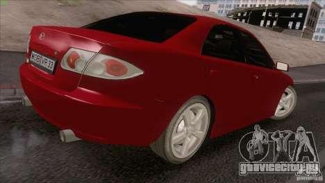 Mazda 6 2006 для GTA San Andreas вид изнутри