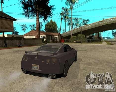 2008 Nissan GTR R35 для GTA San Andreas вид сзади слева