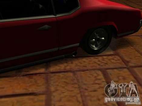 Charger Sabre для GTA San Andreas вид сзади