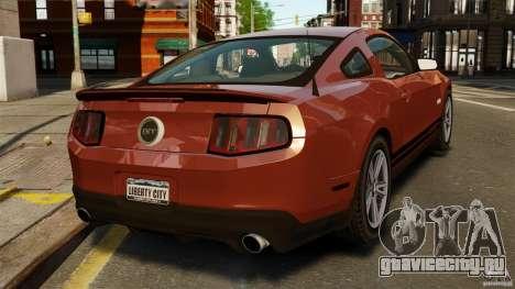 Ford Mustang GT 2011 для GTA 4 вид сзади слева