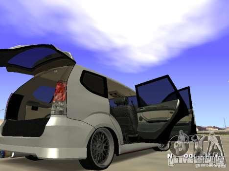 Toyota Avanza Street Edition для GTA San Andreas вид справа