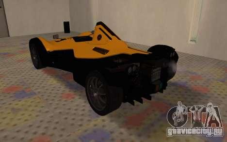 BAC Mono для GTA San Andreas вид справа