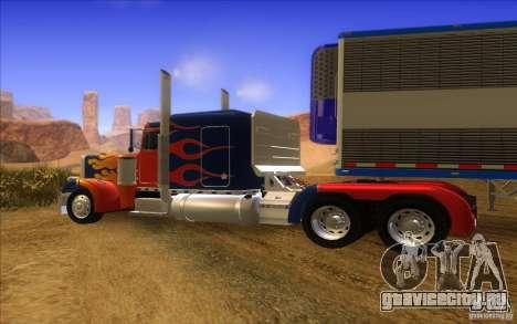 Truck Optimus Prime v2.0 для GTA San Andreas вид сзади