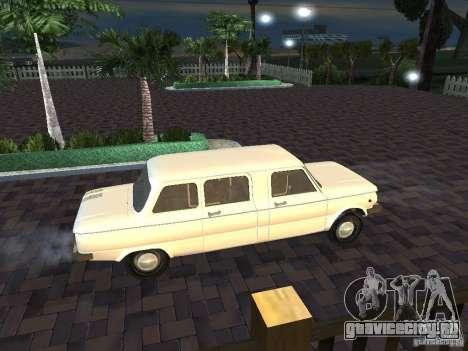 ЗАЗ 968М Лимузин для GTA San Andreas вид изнутри