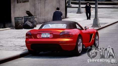 Dodge Viper SRT-10 2003 1.0 для GTA 4 вид изнутри