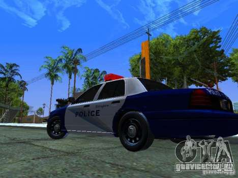 Ford Crown Victoria Belling State Washington для GTA San Andreas вид сзади