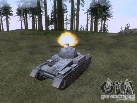 PzKpfw II Ausf.A для GTA San Andreas вид справа