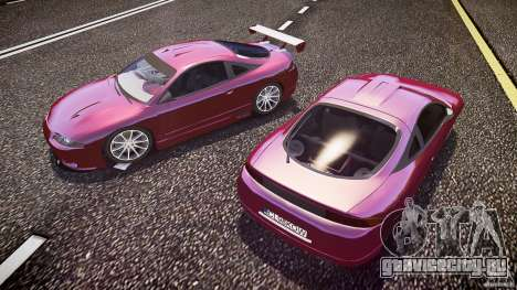 Mitsubishi Eclipse для GTA 4 вид снизу