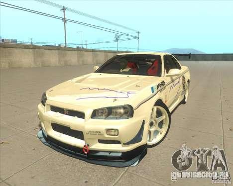 Nissan Skyline GT-R R34 M-Spec Nur для GTA San Andreas колёса