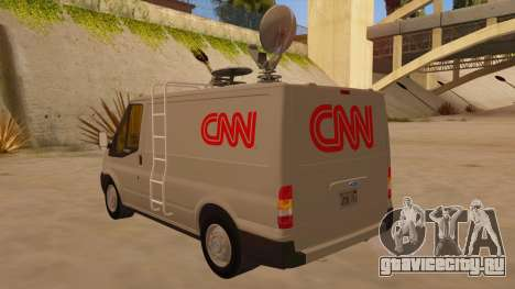 Ford Transit CNN для GTA San Andreas вид сзади слева