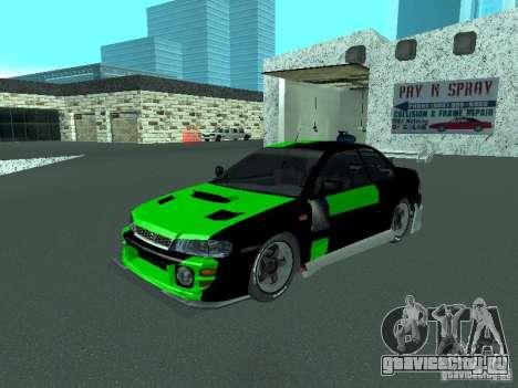 Subaru Impreza для GTA San Andreas колёса