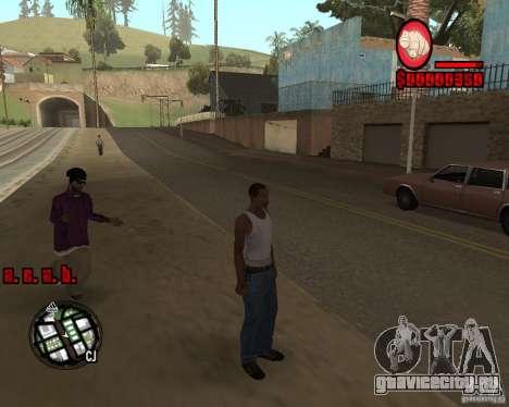 HUD by Russkiy для GTA San Andreas третий скриншот