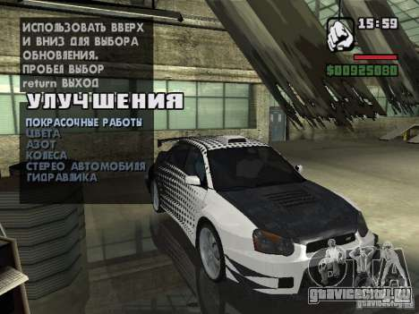 Subaru Impreza Wrx Sti 2002 для GTA San Andreas