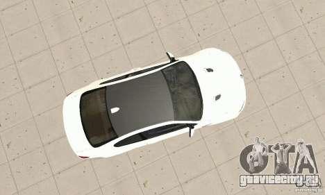 BMW M3 2008 для GTA San Andreas вид изнутри