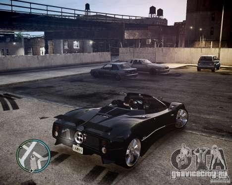 Pagani Zonda C12S Roadster для GTA 4 вид сзади