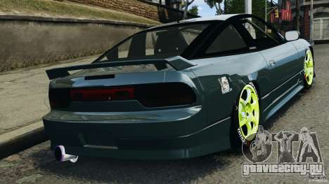 Nissan 240SX JDM для GTA 4 вид изнутри