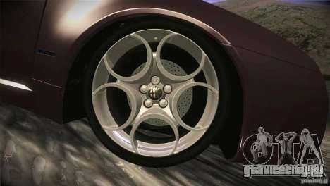 Alfa Romeo Brera Ti для GTA San Andreas вид снизу