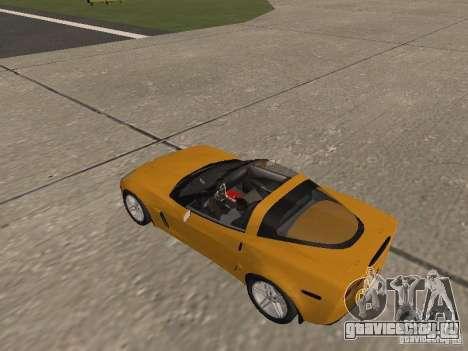 Chevrolet Corvette Z06 для GTA San Andreas вид изнутри