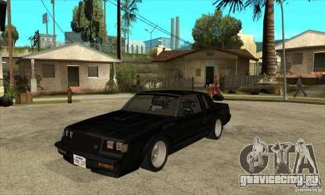 Buick Regal Grand National GNX для GTA San Andreas
