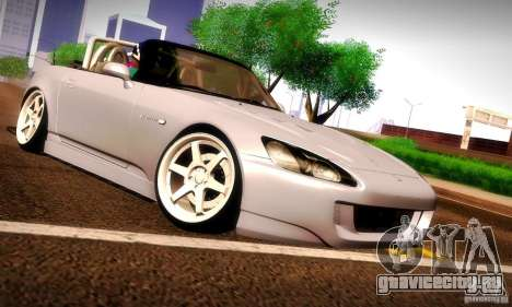 Honda S2000 Street Tuning для GTA San Andreas вид сзади