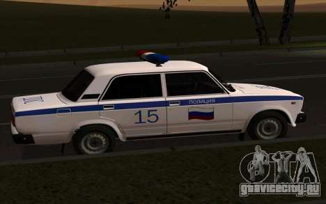 ВАЗ 2107 Полиция для GTA San Andreas вид слева