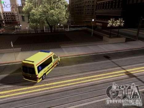 Mercedes-Benz Sprinter Ambulance для GTA San Andreas вид снизу
