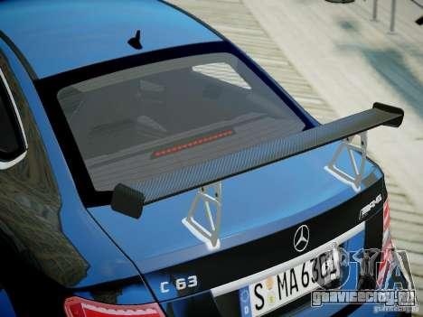 Mercedes-Benz C63 AMG Black Series 2012 v1.0 для GTA 4 вид справа