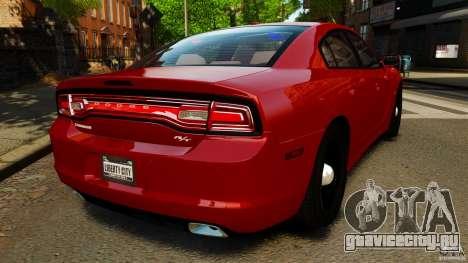Dodge Charger RT Max FBI 2011 [ELS] для GTA 4 вид сзади слева