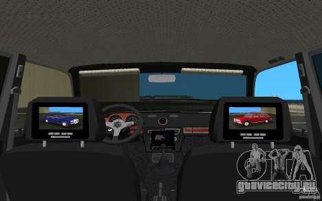 ВАЗ 2106 Tuning v3.0 для GTA Vice City вид изнутри