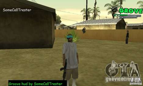 Grove Hud By SCT для GTA San Andreas третий скриншот