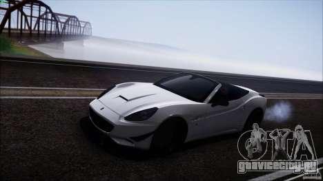 Ferrari California для GTA San Andreas вид сзади слева