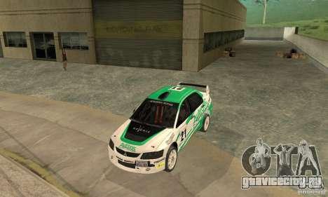 Mitsubishi Lancer Evolution IX для GTA San Andreas двигатель