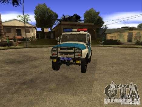 УАЗ 31519 Полиция для GTA San Andreas вид справа