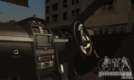 Holden HSV GTS для GTA San Andreas вид изнутри