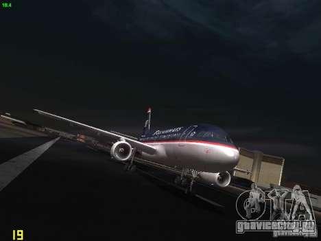 Airbus A319 USAirways для GTA San Andreas вид сзади