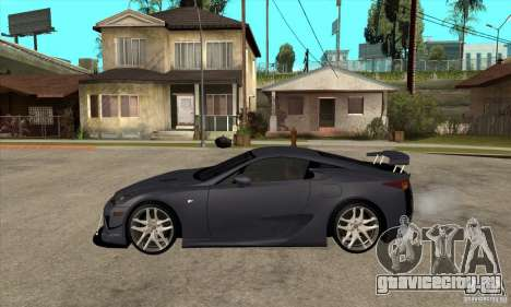 Lexus LFA 2010 v2 для GTA San Andreas вид слева