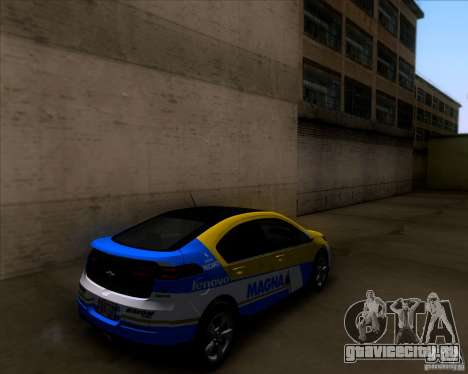 Chevrolet Volt 2012 Stock для GTA San Andreas салон
