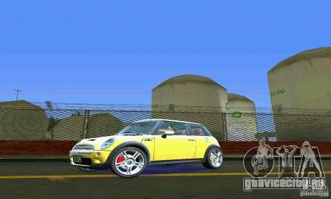 Mini Cooper S для GTA Vice City вид слева