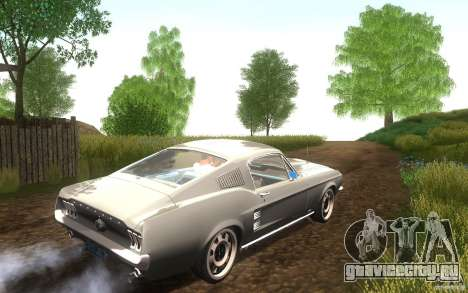 Ford Mustang 1967 American tuning для GTA San Andreas вид сзади