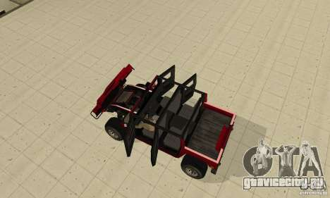Hummer Civilian Vehicle 1986 для GTA San Andreas вид сзади